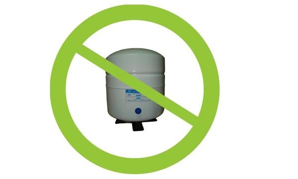 Brak zbiornika na magazynowanie wody w odwróconej osmozie Ecoperla Profine Zero
